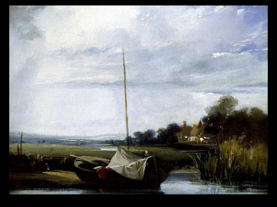 Richard Parkes Bonington, A River in Normandy, c. 1824-1825, England