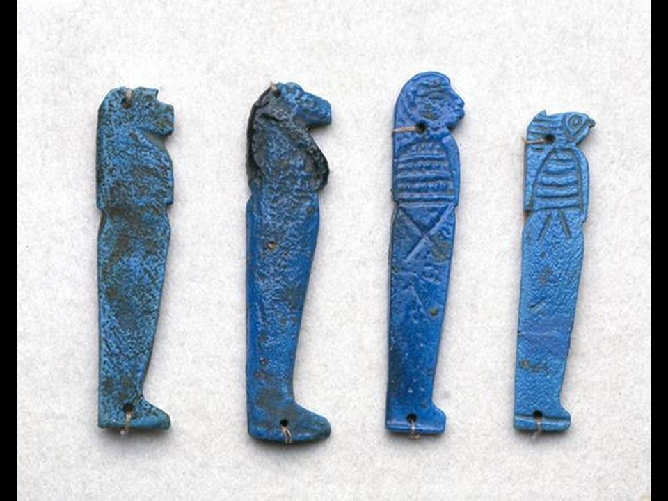 Amulets of the Sons of Horus, 332 BC-395 BC, Egypt