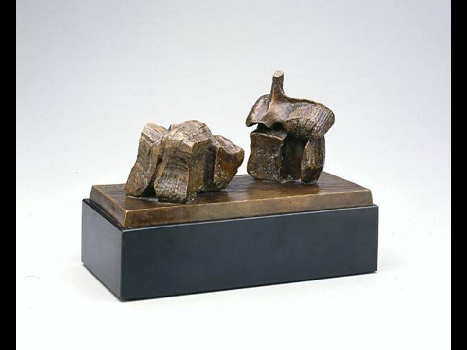 Henry Moore, Two-Piece Reclining Figure, Maquette No. 1, c. 1960, England