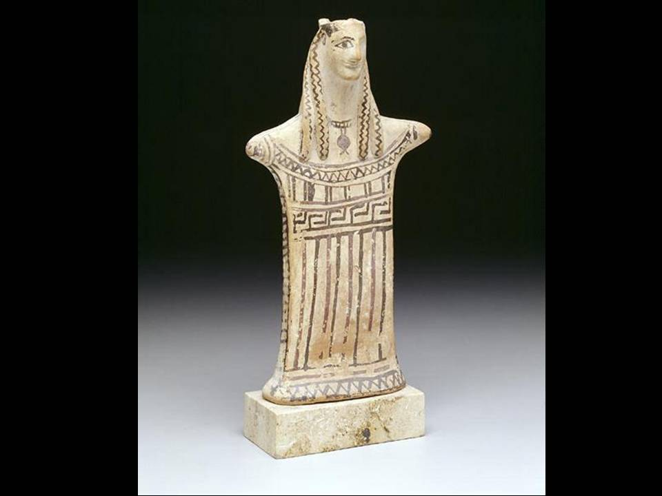 Standing Woman, first half of 6th century B.C., Greece